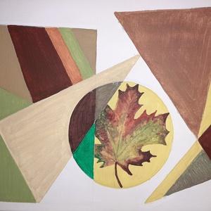 Természet , Otthon & lakás, Dekoráció, Dísz, Képzőművészet, Festmény, Akril, Festészet, 40×50 cm\nAkril festmény feszített vásznon\nAbsztrakt, egyedi mű\n2019 őszén készült. A természet színe..., Meska