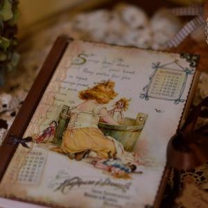Vintage napló, vagy határidőnapló is rendelhető, Naptár, képeslap, album, Otthon & lakás, Jegyzetfüzet, napló, Konyhafelszerelés, Ballagás, Ünnepi dekoráció, Dekoráció, Decoupage, transzfer és szalvétatechnika, Rendelésre készítek könyvet A5- ös méretben 50 lappal ,szép rusztikus papírlapokkal,egyedileg köttet..., Meska