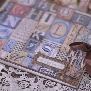 Betű mintás fedlapos emlékkönyv,egyedi könyv, Könyv, Papír írószer, Otthon & Lakás, Papírművészet, Decoupage, transzfer és szalvétatechnika, \nBallagásra, búcsúztatóra, rajzoknak, fényképekek, kis emlékek beragasztsára is alkalmas. Rendelésre..., Meska