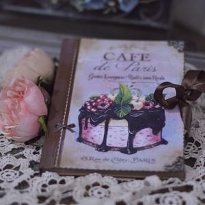 Nosztalgia receptfüzet, sütiknek, tortáknak , Otthon & lakás, Naptár, képeslap, album, Jegyzetfüzet, napló, Konyhafelszerelés, Decoupage, transzfer és szalvétatechnika, Rendelésre készítek receptes könyvet A5- ös méretben szép rusztikus papírlapokkal,egyedileg köttetet..., Meska