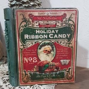 Karácsonyi nosztalgia könyvdoboz, Karácsonyi dekoráció, Karácsony & Mikulás, Decoupage, transzfer és szalvétatechnika, Szép lassan közeledik, aztán észre sem vesszük és hirtelen meglep minket a karácsonyi készülődés. So..., Meska
