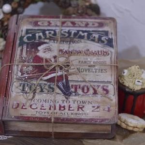 Karácsonyi nosztalgia könyvdoboz, Otthon & Lakás, Díszdoboz, Dekoráció, Szép lassan közeledik, aztán észre sem vesszük és hirtelen meglep minket a karácsonyi készülődés. So..., Meska