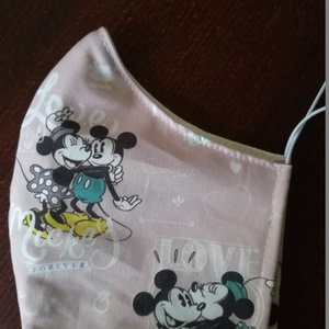 Minnie és Mickey....szájmaszk, arcmaszk., NoWaste, Textilek, Táska, Divat & Szépség, Szépség(ápolás), Maszk, szájmaszk, Varrás, Az ujrafelhasználás jegyében készítettem szájmaszkot.\nA maszkok kalapgumival készültek, biztonsági v..., Meska