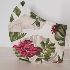 Hibiskus virág az esőerdőben szájmaszk, arcmaszk., NoWaste, Textilek, Táska, Divat & Szépség, Szépség(ápolás), Egészségmegőrzés, Maszk, szájmaszk, Varrás, Az újrafelhasználás jegyében készítettem szájmaszkot.\nA maszkok kalapgumival készültek, biztonsági v..., Meska