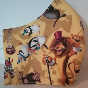 Madagaszkár pingvinjei.......szájmaszk, arcmaszk., NoWaste, Textilek, Táska, Divat & Szépség, Szépség(ápolás), Egészségmegőrzés, Maszk, szájmaszk, Varrás, Az ujrafelhasználás jegyében készítettem szájmaszkot.\nA maszkok kalapgumival készültek, biztonsági v..., Meska