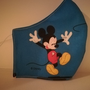 Mickey.mause.....szájmaszk, arcmaszk kékben , NoWaste, Textilek, Táska, Divat & Szépség, Szépség(ápolás), Maszk, szájmaszk, Varrás, Az ujrafelhasználás jegyében készítettem szájmaszkot.\nA maszkok kalapgumival készültek, biztonsági v..., Meska