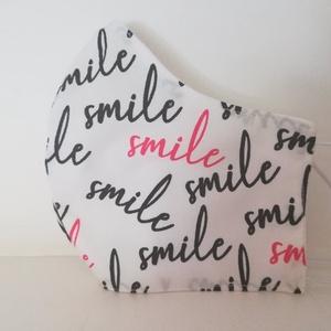 Smile szájmaszk,, NoWaste, Textilek, Táska, Divat & Szépség, Szépség(ápolás), Egészségmegőrzés, Maszk, szájmaszk, Varrás, Az ujrafelhasználás jegyében készítettem szájmaszkot.\nA maszkok kalapgumival készültek, biztonsági v..., Meska