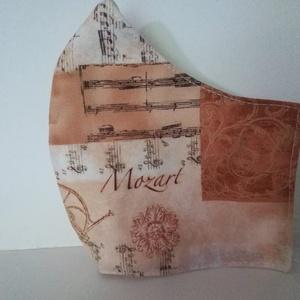 Zeneszerzők, Mozart...... szájmaszk, arcmaszk. , NoWaste, Textilek, Táska, Divat & Szépség, Szépség(ápolás), Egészségmegőrzés, Maszk, szájmaszk, Varrás, Az újrafelhasználás jegyében készítettem szájmaszkot.\nA maszkok kalapgumival készültek, biztonsági v..., Meska
