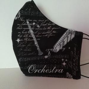 Orchestra.........szájmaszk, arcmaszk. , NoWaste, Textilek, Táska, Divat & Szépség, Szépség(ápolás), Egészségmegőrzés, Maszk, szájmaszk, Varrás, Az újrafelhasználás jegyében készítettem szájmaszkot.\nA maszkok kalapgumival készültek, biztonsági v..., Meska