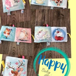 Baba textil könyv játék, Gyerek & játék, Baba-mama kellék, Játék, Gyerekszoba, Varrás, A babakönyv 8 oldalból áll, ezeken különleges minták láthatóak. 2 külső oldala zörgős, az egyik bels..., Meska