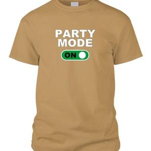 Party mode ON póló, Művészet, Grafika & Illusztráció, Fotó, grafika, rajz, illusztráció, Mindenmás, Indulhat a party! Ha ilyen pólód van, biztos a siker a jó bulihoz.\nA felirat (Party mode) személyre ..., Meska