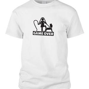 Game over póló, Ruha & Divat, Férfi ruha, Póló, Fotó, grafika, rajz, illusztráció, Mindenmás, Legénybúcsúra nem is lehetne jobb ötletet kívánni. Vicces, kreatív és egyedi megjelenésének köszönhe..., Meska