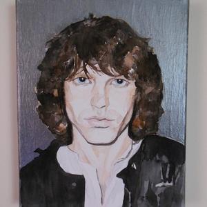 Jim Morrison portré (watercolorbyvera) - Meska.hu