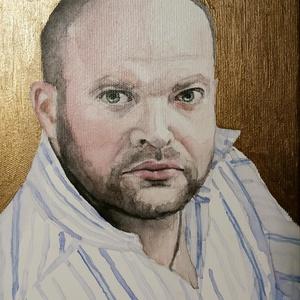 Portré festés, Képzőművészet, Otthon & lakás, Festmény, Akvarell, Festmény vegyes technika, Festészet, Fotó, grafika, rajz, illusztráció, Egyedi akvarell portré festést vállalok fotóról. \nEzt a képet vegyes technikával készítettem, akvare..., Meska