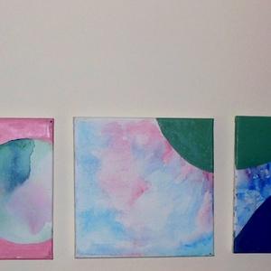 Buborékok-absztrakt akvarell, olajfestmény , Képzőművészet, Otthon & lakás, Festmény, Akvarell, Olajfestmény, Festészet, Együtt vásárolható meg a Buborékok c. absztrakt festmény hármasom. Akvarell és olaj festékkel festet..., Meska