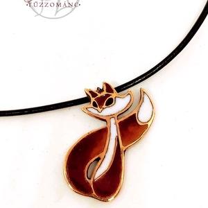 Lili a rókalány - tűzzománc medál (bronz), Ékszer, Nyaklánc, Medálos nyaklánc, Tűzzománc, Ötvös, Meska