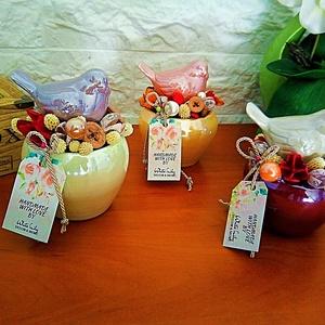 Pintyökés virág dekoráció, Csokor & Virágdísz, Dekoráció, Otthon & Lakás, Virágkötés, Madárcsicsergős  szép napot nektek :)\nKészítettem pintyökés virág dekorációt,névnapra ,születésnapra..., Meska