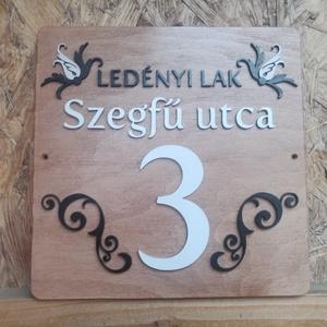 Házszám tábla - Dekor 6 - Meska.hu