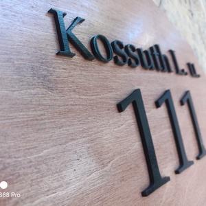 Házszám tábla - Nagy Magyarország, Otthon & Lakás, Ház & Kert, Házszám, Festett tárgyak, Gravírozás, pirográfia, Meska