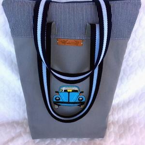 Hímzett bogárhátú :o)  -Volkswagen beetle-Retro autós -vászon hímzett táska, Válltáska, Kézitáska & válltáska, Táska & Tok, Varrás, Hímzés, AKCIÓ: \n\n15.000 Ft feletti vásárlás esetén, a postaköltséget én állom amennyiben FOX Post automatába..., Meska
