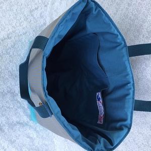 AKCIÓS! Kék -szürke csíkos pille könnyű táska (wiki001) - Meska.hu