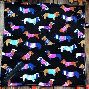 Tacskós öko szendvics csomagoló-textil szalvéta  PUL belsővel, NoWaste, Bevásárló zsákok, zacskók , Textilek, Textil tároló, Varrás, AKCIÓ: \n\n15.000 Ft feletti vásárlás esetén, a postaköltséget én állom amennyiben FOX Post automatába..., Meska