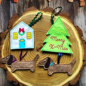 Tacskók  szettben-karácsonyi dísz csomag 4 db dísz egy csomagban!, Karácsony & Mikulás, Karácsonyfadísz, AKCIÓ:   15.000 Ft feletti vásárlás esetén, a postaköltséget én állom amennyiben FOX Post automatába..., Meska