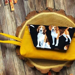 Beagle kutyás neszesszer -csulkón horható kistáska, Táska & Tok, Kézitáska & válltáska, Csuklótáska, Varrás, AKCIÓ: \n\n15.000 Ft feletti vásárlás esetén, a postaköltséget én állom amennyiben FOX Post automatába..., Meska