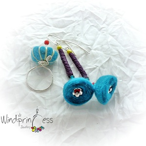 Nemez gyűrű  , színes (windprincess) - Meska.hu