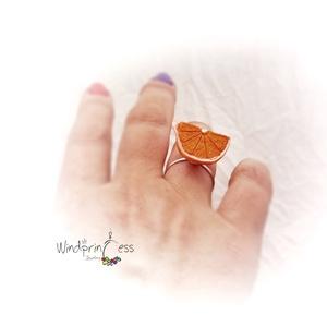 Gyümölcskoktél ékszerek , narancs gyűrű (windprincess) - Meska.hu