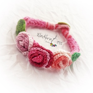 Extravagáns bohém karkötő  pink-színes (windprincess) - Meska.hu