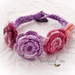Extravagáns bohém karkötő lilás (windprincess) - Meska.hu
