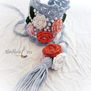 Extravagáns bohém karkötő  rózsákkal (windprincess) - Meska.hu