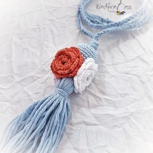Extravagáns bohém nyaklánc  rózsákkal (windprincess) - Meska.hu