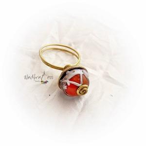 Gyűrű, lámpagyöngy, réz (windprincess) - Meska.hu