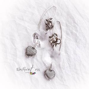 Antik kristály fülbevaló (windprincess) - Meska.hu