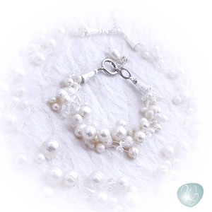 Többsoros gyöngyös -kristályos karkötő- akár menyasszonyoknak (windprincess) - Meska.hu