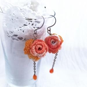 Tavaszi Kert kollekció,  4 rózsás fülbevaló  (windprincess) - Meska.hu