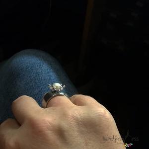 Királylányos gyűrű, acéllal és igazgyönggyel (windprincess) - Meska.hu
