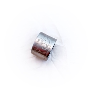 Acél gyűrű, maratott mintával , nyitott (windprincess) - Meska.hu