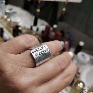 Feliratos ékszerek, gyűrű - Meska.hu
