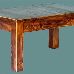 Dohányzóasztal, Otthon & Lakás, Bútor, Asztal, Famegmunkálás, Dohányzóasztal 76 x 47 cm, magassága 39,5 cm. Az asztallap bükkfából van, a lábak fenyőfából. Saját ..., Meska