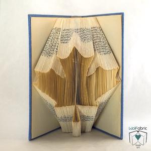 Juharlevél mintájú hajtogatott könyv origami, Kanada, Fa, Természetbarát, Könyvszobrászat, E198, Otthon & Lakás, Könyvszobor, Dekoráció, Hajtogatott könyv vagy más néven könyv origami.   ****ALAP INFORMÁCIÓK**** A hajtogatott könyv ideál..., Meska