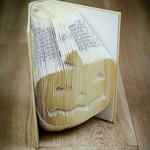 Tökfej mintájú hajtogatott könyv-Újrahasznosított-Mindenszentek-Halloween-Ijesztő- Lámpás-origami-E248 (Wolfabric) - Meska.hu