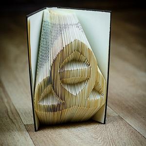 Kelta csomót formázó könyvszobor - E211, Otthon & Lakás, Könyvszobor, Dekoráció, Hajtogatott könyv vagy más néven könyv origami.   ****ALAP INFORMÁCIÓK**** A hajtogatott könyv ideál..., Meska