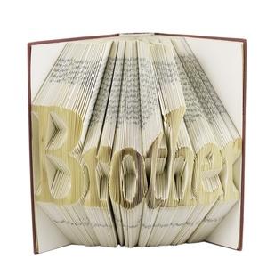Brother feliratos hajtogatott könyvszobor - Testvérpár - Testvér - Esküvőre - Karácsonyra - Könyvorigami - E389, Otthon & lakás, Dekoráció, Dísz, Lakberendezés, Utcatábla, névtábla, ****ALAP INFORMÁCIÓK**** A hajtogatott könyv ideális ajándéknak bizonyul életünk minden nagyobb esem..., Meska