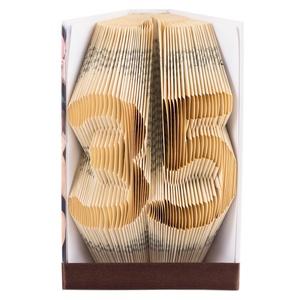 35 - Egyedi számos hajtogatott könyvszobor -  Origami - Születésnapra - Évfordulóra -  E505, Könyvszobor, Dekoráció, Otthon & Lakás, Papírművészet, Újrahasznosított alapanyagból készült termékek, ****ALAP INFORMÁCIÓK****\nA hajtogatott könyv ideális ajándéknak bizonyul életünk minden nagyobb esem..., Meska