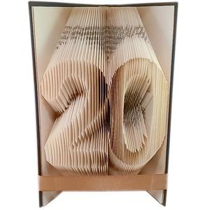 20 - Egyedi számos hajtogatott könyv origami - huszadik születésnapra - évfordulóra - két szám - könyvszobor - E112, Könyvszobor, Dekoráció, Otthon & Lakás, Papírművészet, Újrahasznosított alapanyagból készült termékek, Hajtogatott könyv vagy más néven könyv origami. \nEgyedi elképzelés alapján bármilyen szöveg elkészít..., Meska