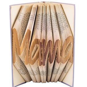 """""""Mama"""" feliratos hajtogatott könyv - Nagymamának - anyák napjára - nagyinak - E515, Otthon & lakás, Dekoráció, Dísz, Lakberendezés, Utcatábla, névtábla, Anyák napja, Ünnepi dekoráció,  Hajtogatott könyv vagy más néven könyv origami.  Egyedi elképzelés alapján bármilyen szöveg elkészí..., Meska"""