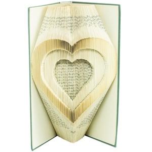 Szívben Szív könyvszobor - Generációk - Nagymamának - Családfa - Esküvőre - Lakodalomba - E669, Otthon & lakás, Esküvő, Dekoráció, Lakberendezés, Dísz, Hajtogatott könyv vagy más néven könyv origami.   ****ALAP INFORMÁCIÓK**** A hajtogatott könyv ideál..., Meska